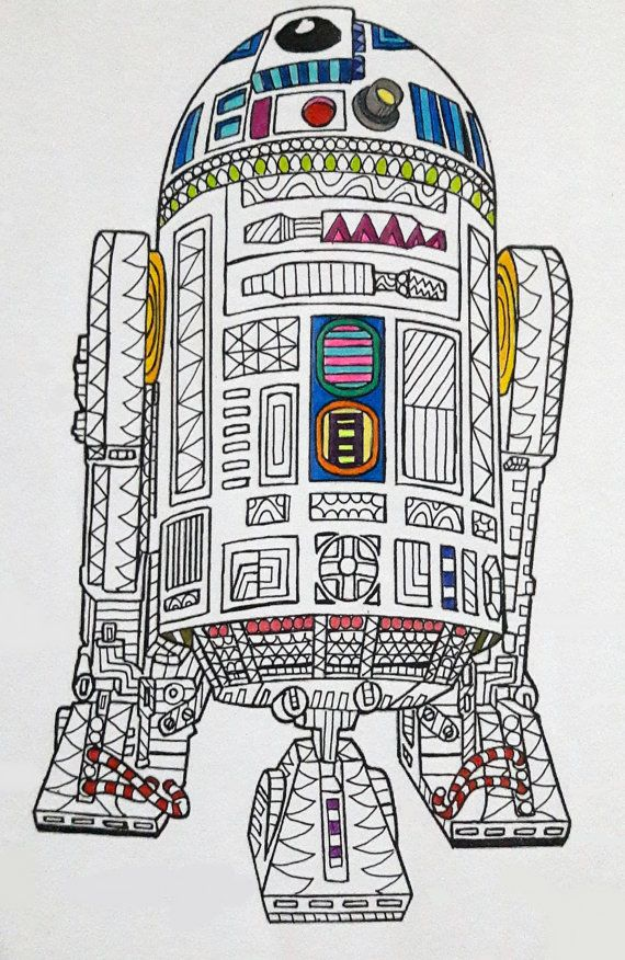 R2-D2 Star Wars Coloring Page, Star Wars Coloring page, Coloring ...