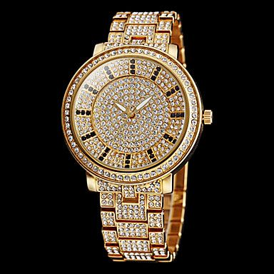 EUR € 34.58 - Mujeres completo Diamante dial redondo de acero banda de cuarzo  reloj de pulsera analógico (colores surtidos) 3cd0b06cfdbb
