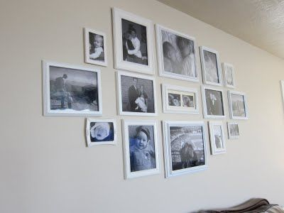 How To Hang Multiple Pictures On Wall hanging multiple picture frames on a wall | diy home decor