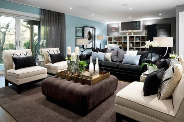 60+ Best Black And Cream Living Room Design Ideas   For the ...