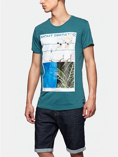 3e7f67db32b5f1 Print T-shirt lichtgroen - The Sting