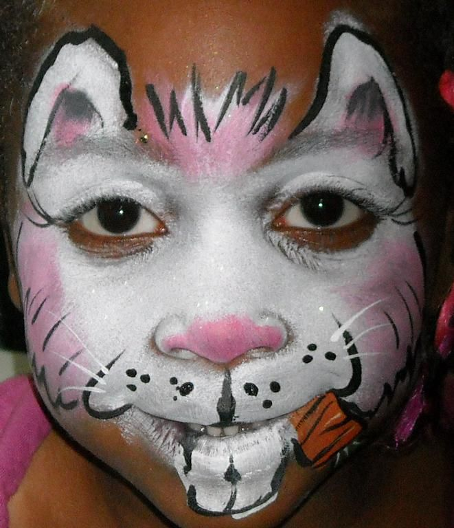 Rabbit Make up Easter Bunny face Painting by Amazing Face