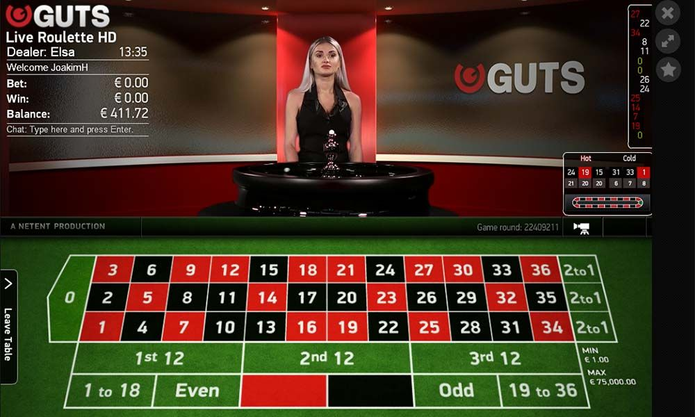 Wager Your Way To Cash Wins On The New Live Roulette Table At Guts