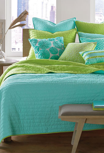 Aqua And Lime Green Bedding, Turquoise And Lime Green Bedding