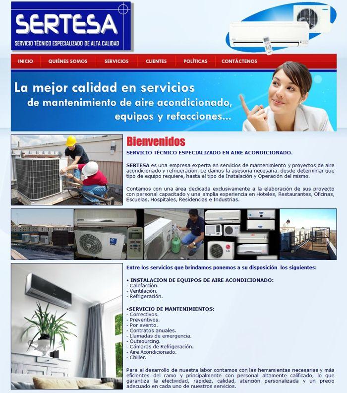 Sertesa Www Sertesamx Com Portafolio Web Mantenimiento De Aire Acondicionado Portafolio