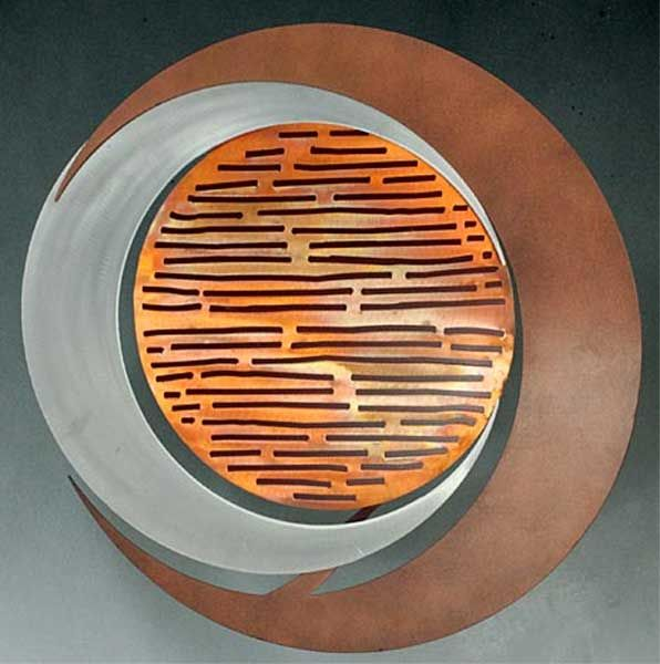 Eclipse of the Sun Large Metal Wall Art - Outdoor Metal Art