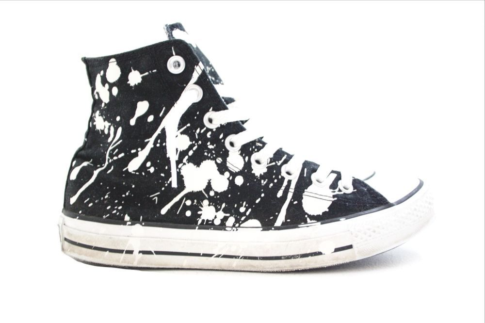 e9934eb9f3f5 Converse All Star Chuck Taylor Paint Splatter High Top Sneakers - Black -  Wo. 9  Converse  BasketballShoes
