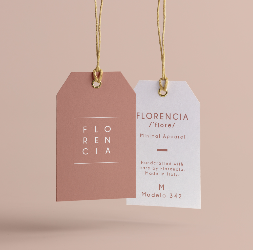 Clothes Tag. Creative Clothes Tag. Fashion Tag. Florence, Italy. Graphic Design. Brand Design project. Designed By Stella. Fashion brand. Style brand. Curated design for entrepreneurs and fashion lovers. #fashiontag