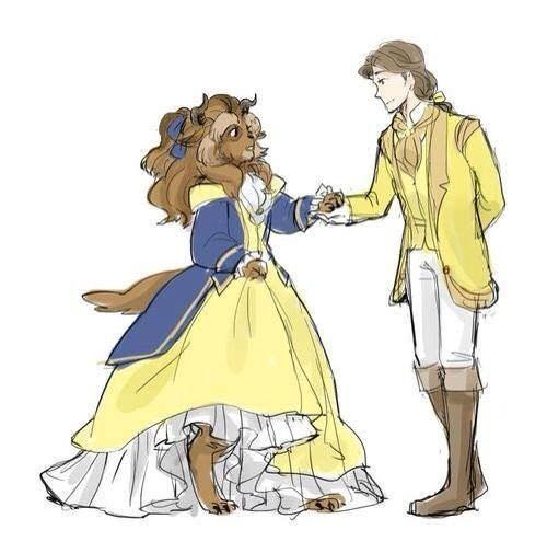 Disney characters x reader (is done) - Male belle x beast