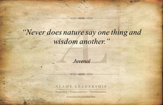 Wisdom and Nature