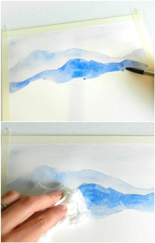 Learn To Paint A Watercolor Mountainscape Learn To Paint