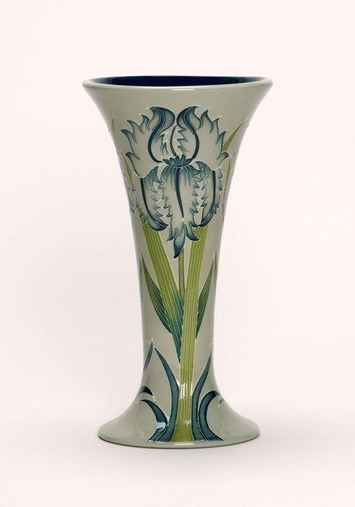 Moorcroft Pottery Green Iris Designer William Moorcroft   Moorcroft ...