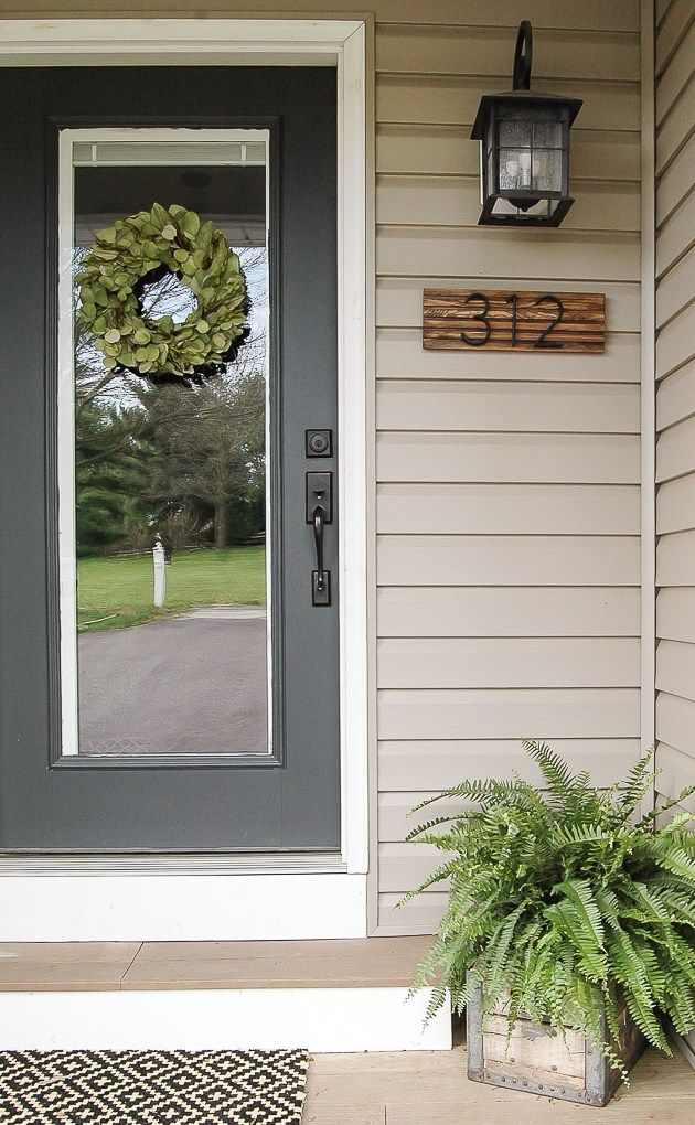 29+ Beautiful DIY House Number Sign Ideas and Designs For