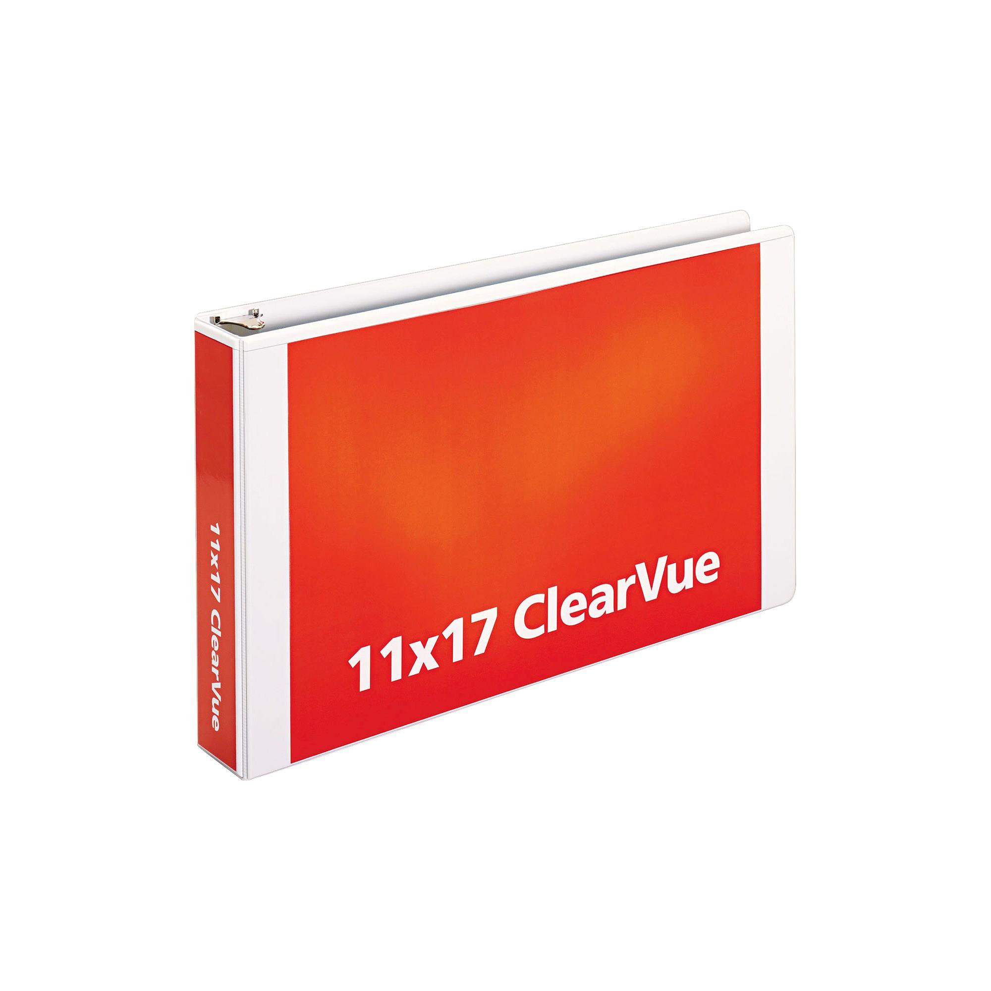 "Cardinal 11 X 17 ClearVue Slant-D Ring Binder, 2"" Cap"