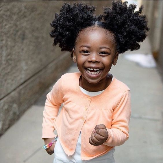 Pleasing Natural Hair Styles For Kids Baby Girl Hairstyles Natural Hair Natural Hairstyles Runnerswayorg
