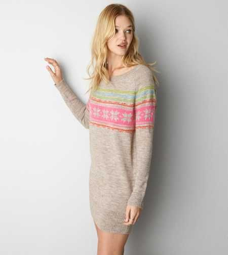 AEO Fair Isle Sweater Dress - Buy One Get One 50% Off | Clothes ...