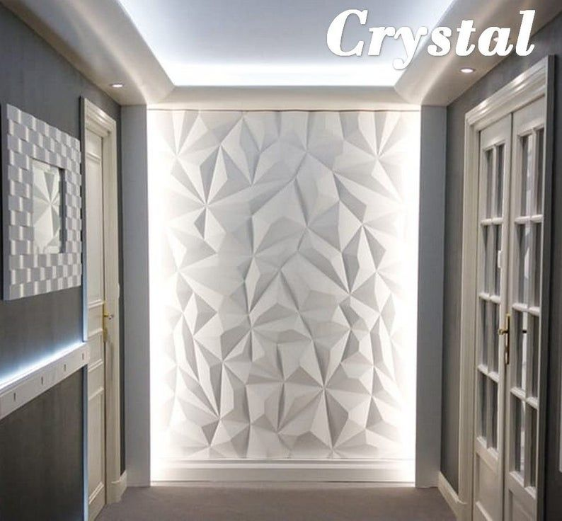 Plastic Mold For 3d Wall Decor Panels For Gypsum Or Concrete 3d