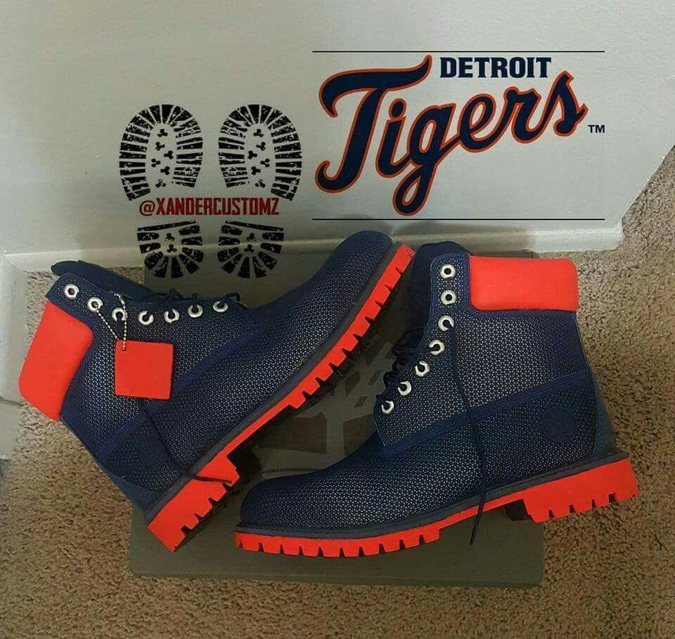 e88525f4a702 Custom Detroit Tigers Timberland