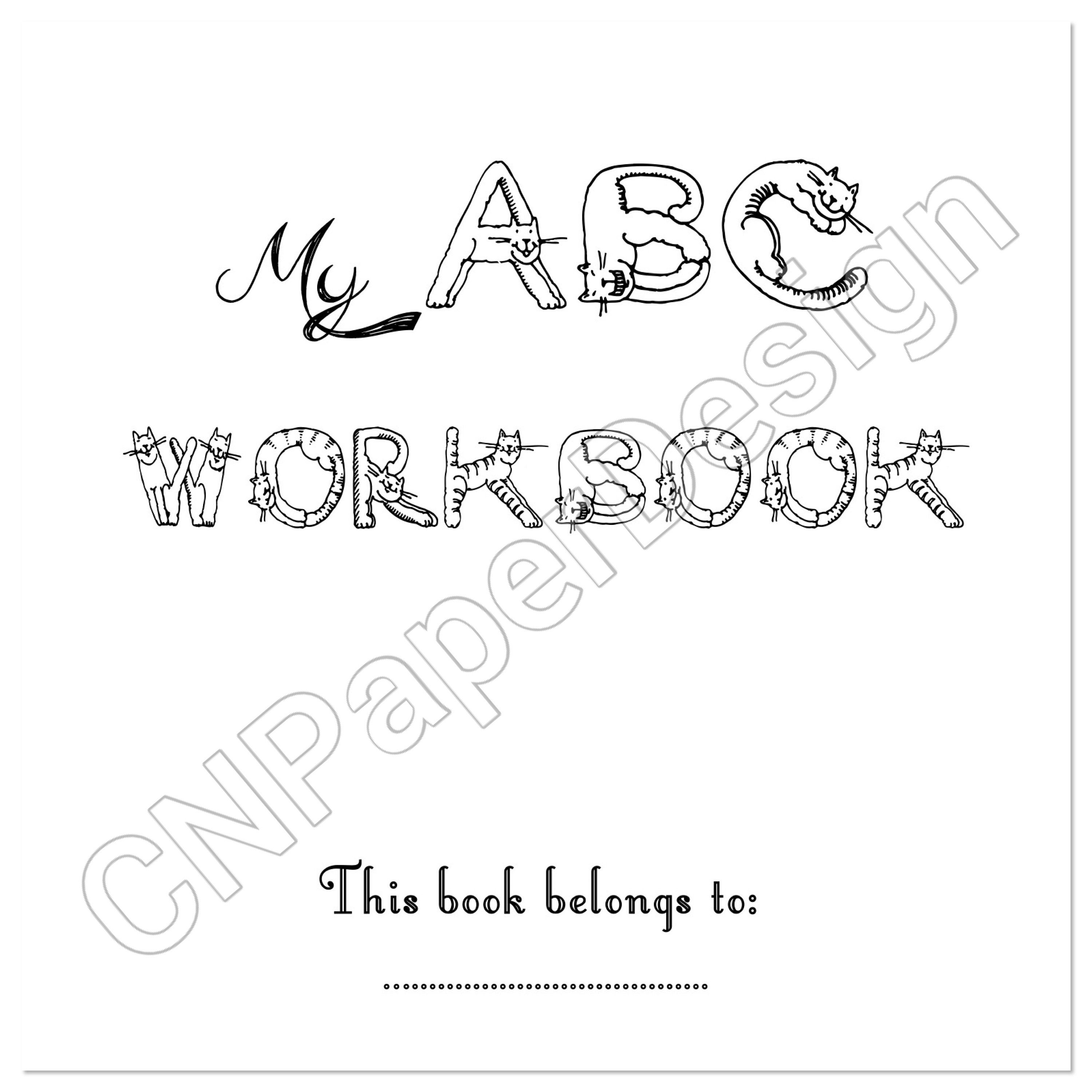 Trace The Alphabet Practice Worksheet With Related