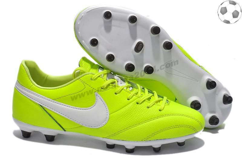 Chaussure de football Nike The Premier FG Fluorescent Vert Blanc FT2082