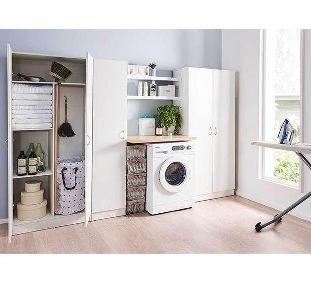 Oto 2 Door Broom Cupboard Fantastic Furniture