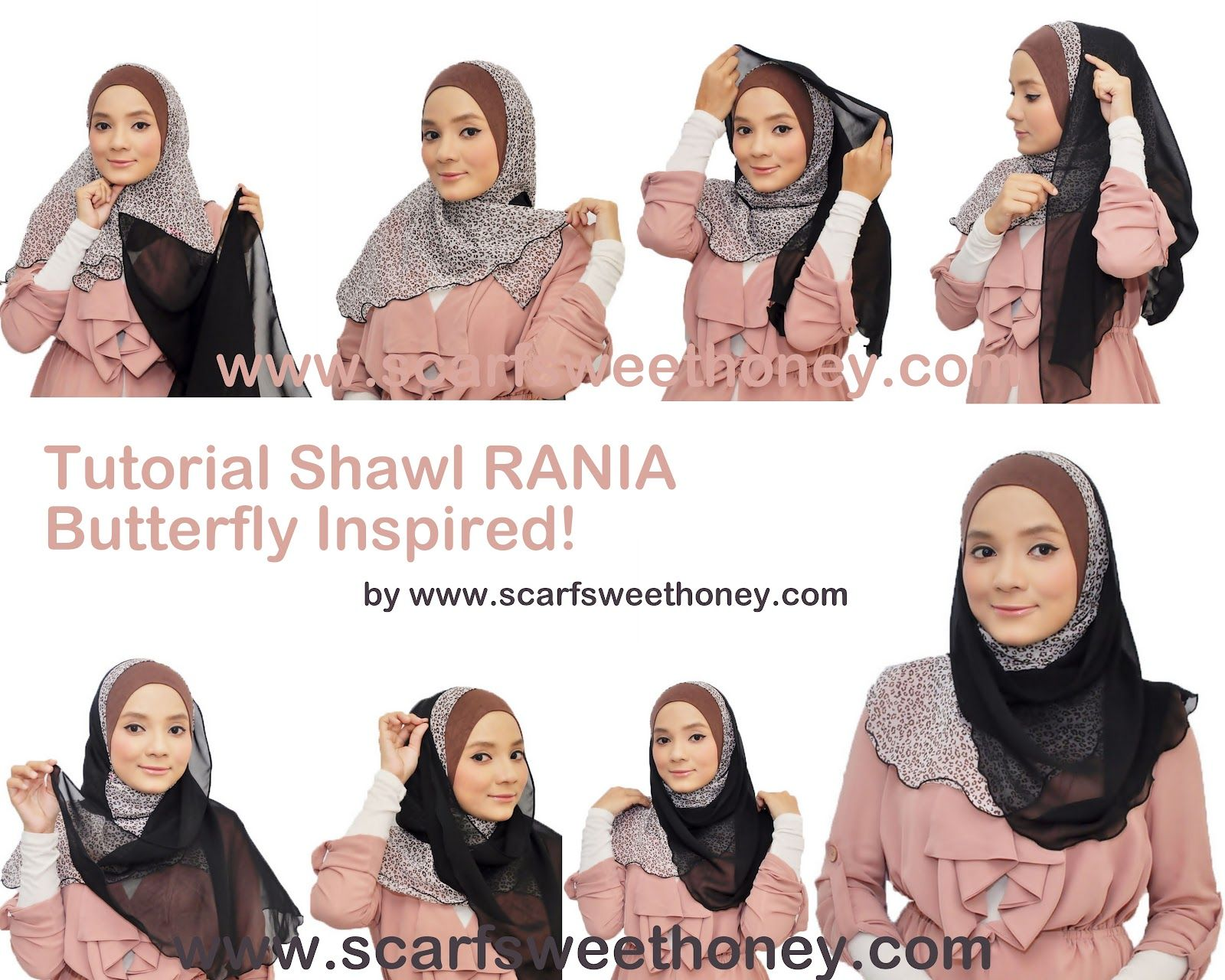 Hijab Tutorial Scarf Sweethoney Hijab Pinterest