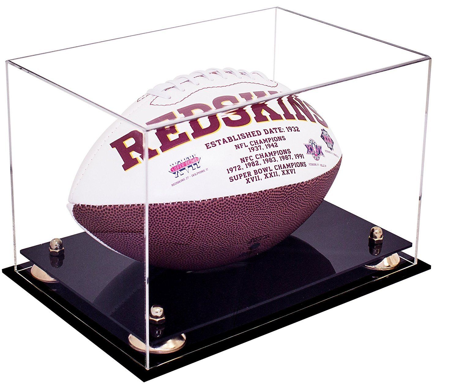 e10387af858 Deluxe Clear Acrylic Football Display Casewith Risers (A004)