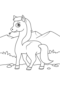 Nice Coloring Page Horse Kids 01 On Kids N Fun In 2021 Horse Coloring Pages Horse Coloring Animal Coloring Pages