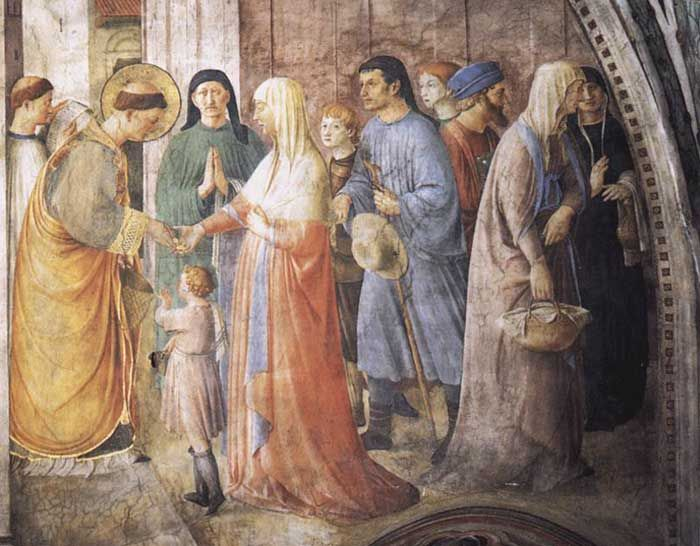 Fra Angelico, St Stephen Distributing Alms, Cappella Niccolina, Palazzi Pontifici, Vatican