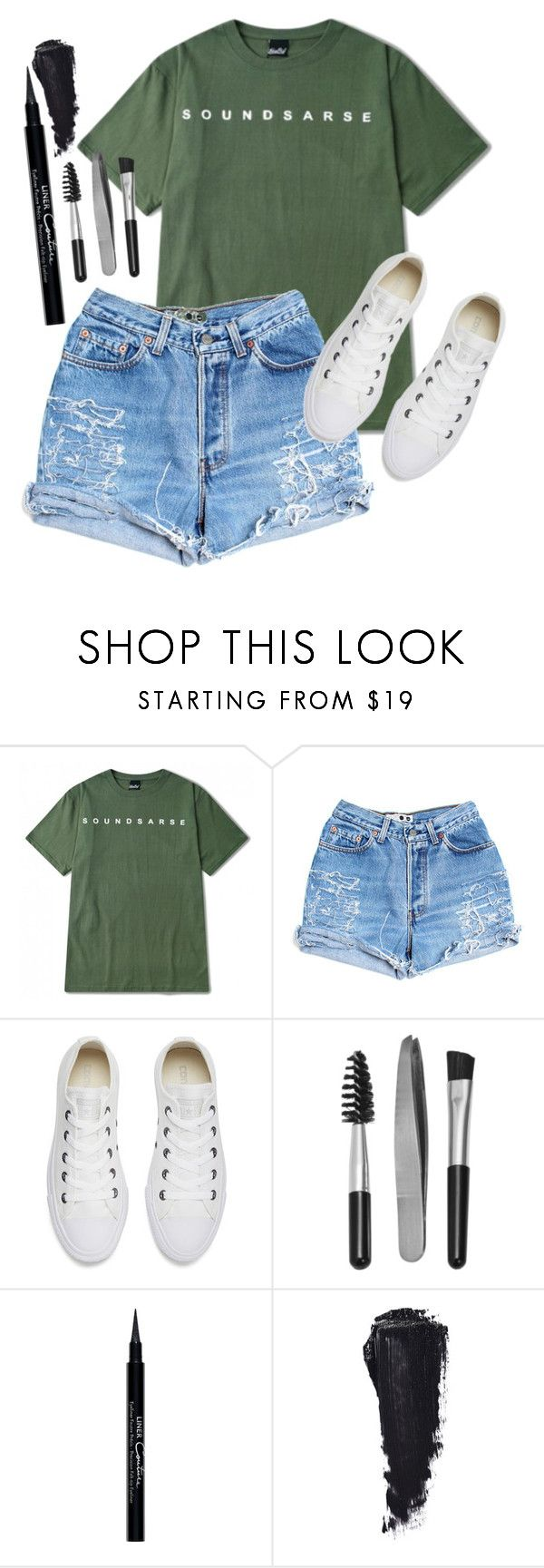 """""""just because i like it"""" by marymh ❤ liked on Polyvore featuring Levi's, Converse, Sephora Collection and Givenchy"""
