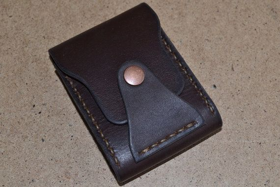 Mooie en praktische mini portemonnee gemaakt van echte