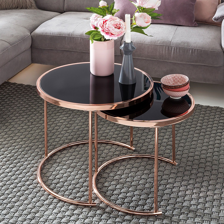 Tables Gigognes Cassapolis Lot De 2 En 2020 Table Basse Salon Design De Table Table De Salon