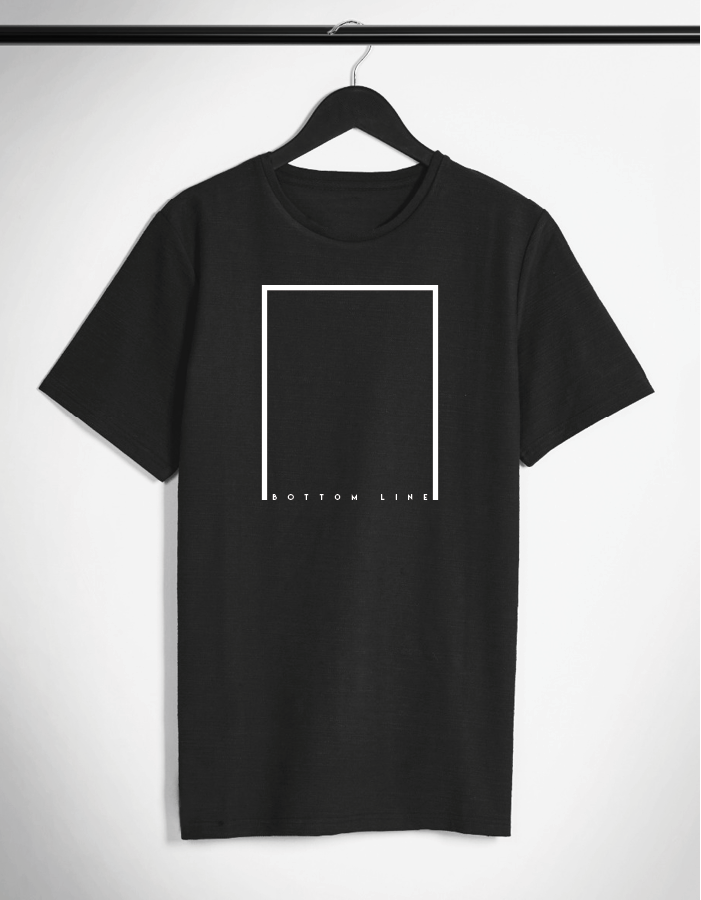 BOTTOM LINE. Minimalistic T-shirt by SIIKALINE.  2b57514dcd
