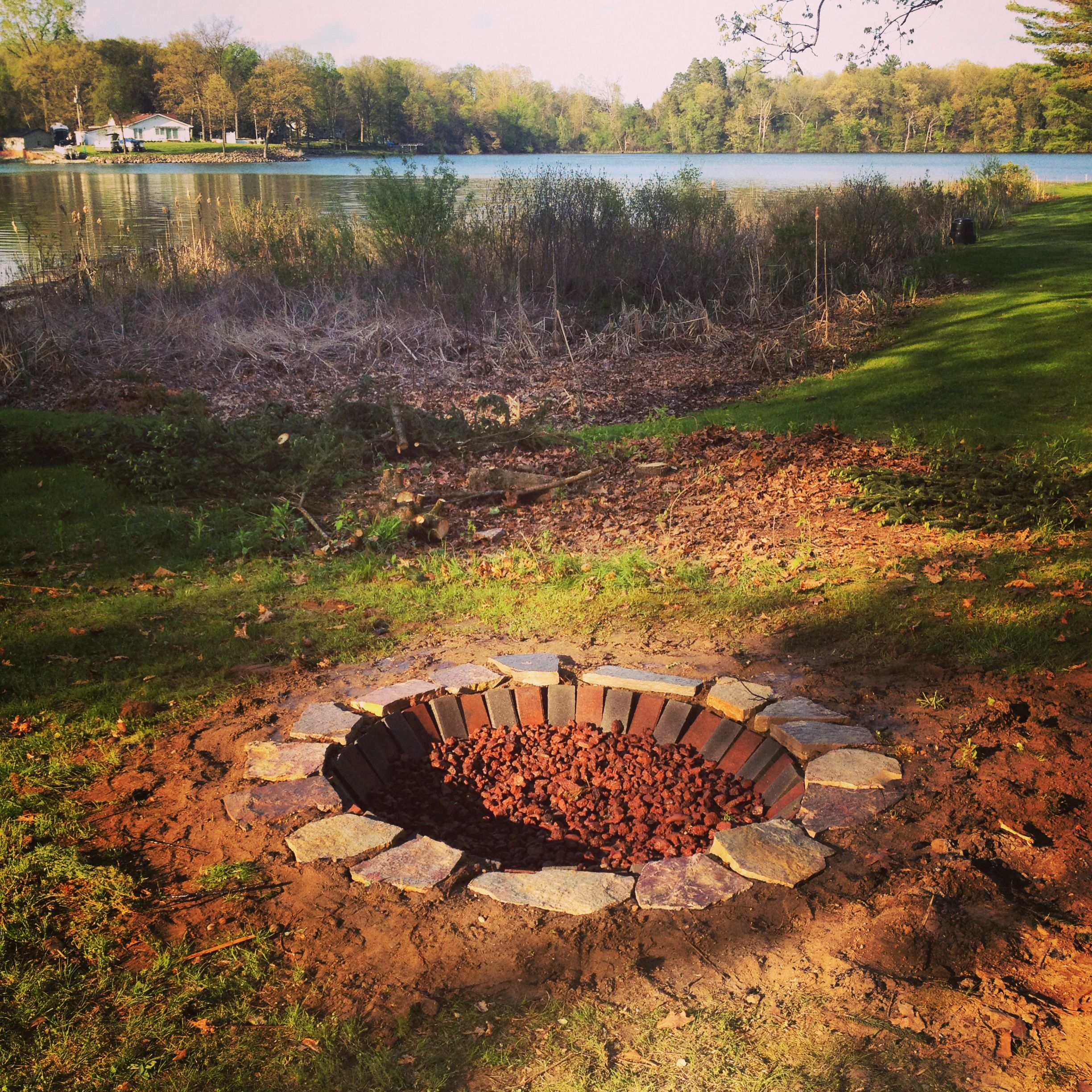 Lake House Fire Pit Under 120 00 1 Dig A Hole 1 Foot