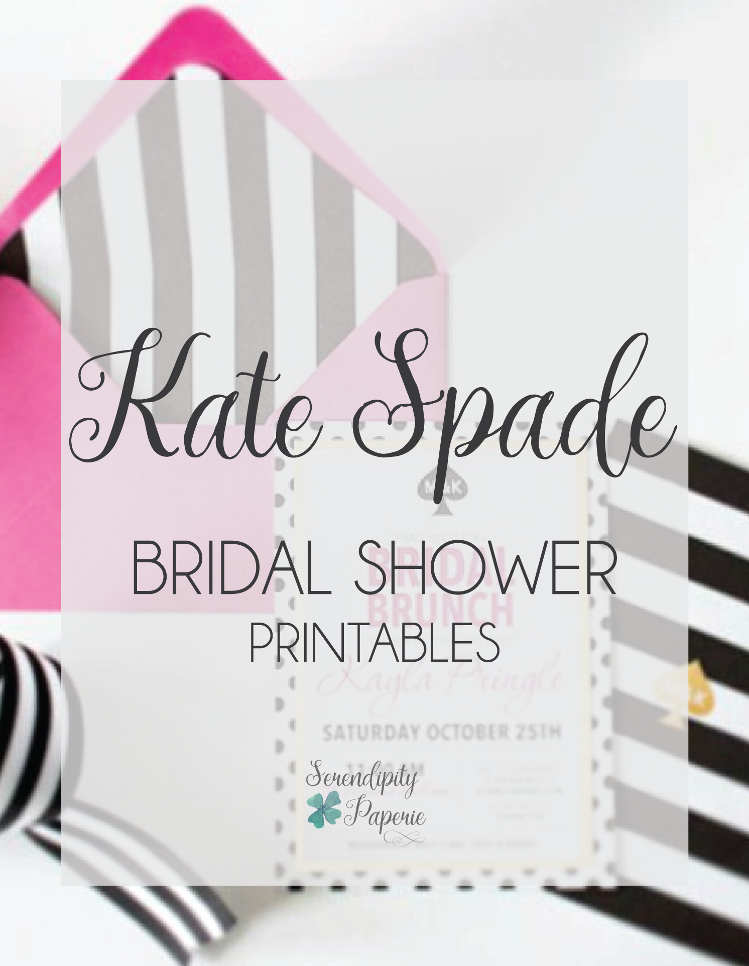 Kate Spade Inspired Bridal Shower Invitations by Serendipity Paperie ...