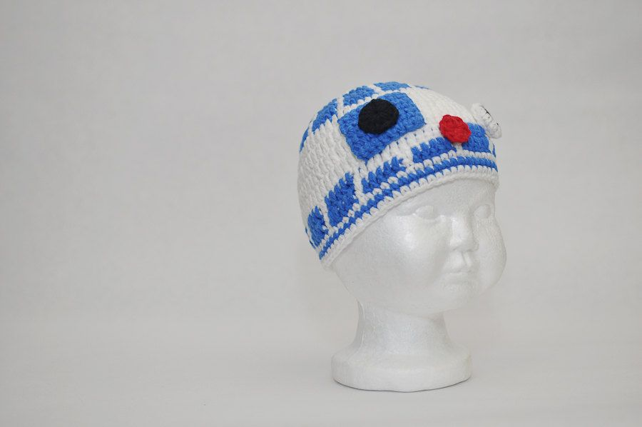 R2D2 hat crocheted baby hat photo prop Star Wars hat. $20.00, via ...