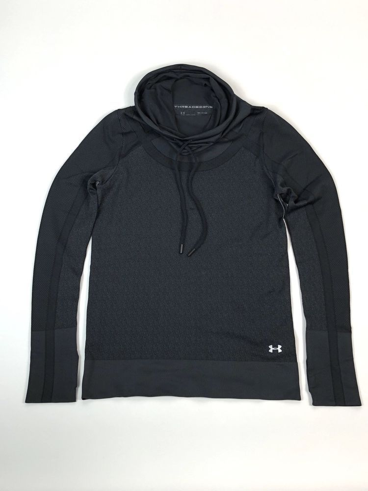 e87339e7 Under Armour Womens Sz SMALL Seamless Hooded Funnel Neck Pullover ...