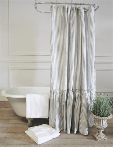 Merveilleux Vintage Ruffle Shower Curtain From Full Bloom Cottage