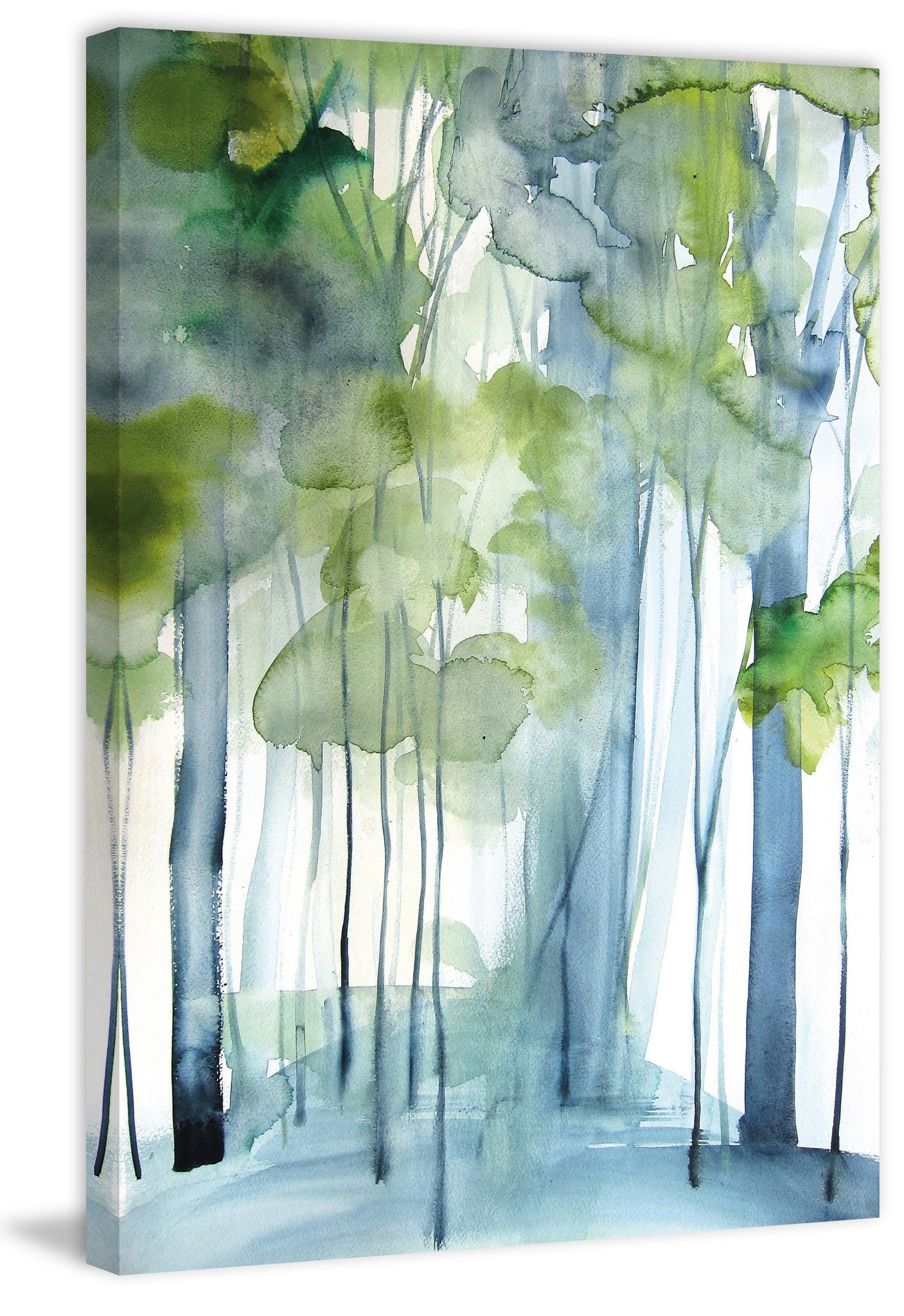 New Growth Landscape Artwork Tree Art Watercolor Art