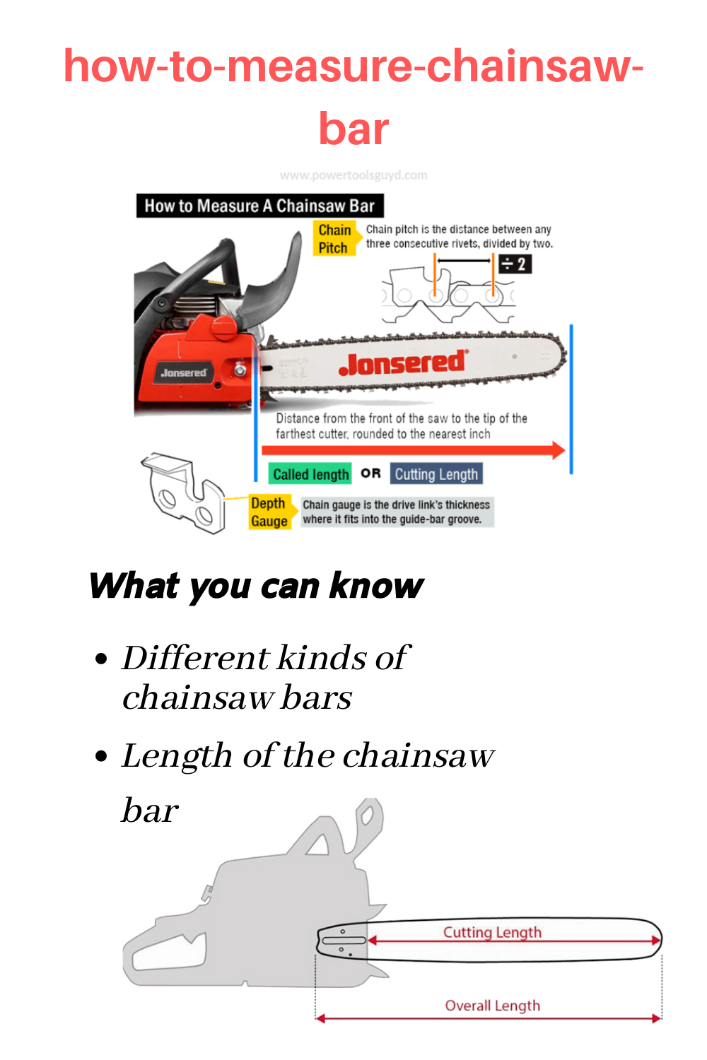 How To Measure A Chainsaw Bar Guide For Beginners Chainsaw Bars Chainsaw Bar