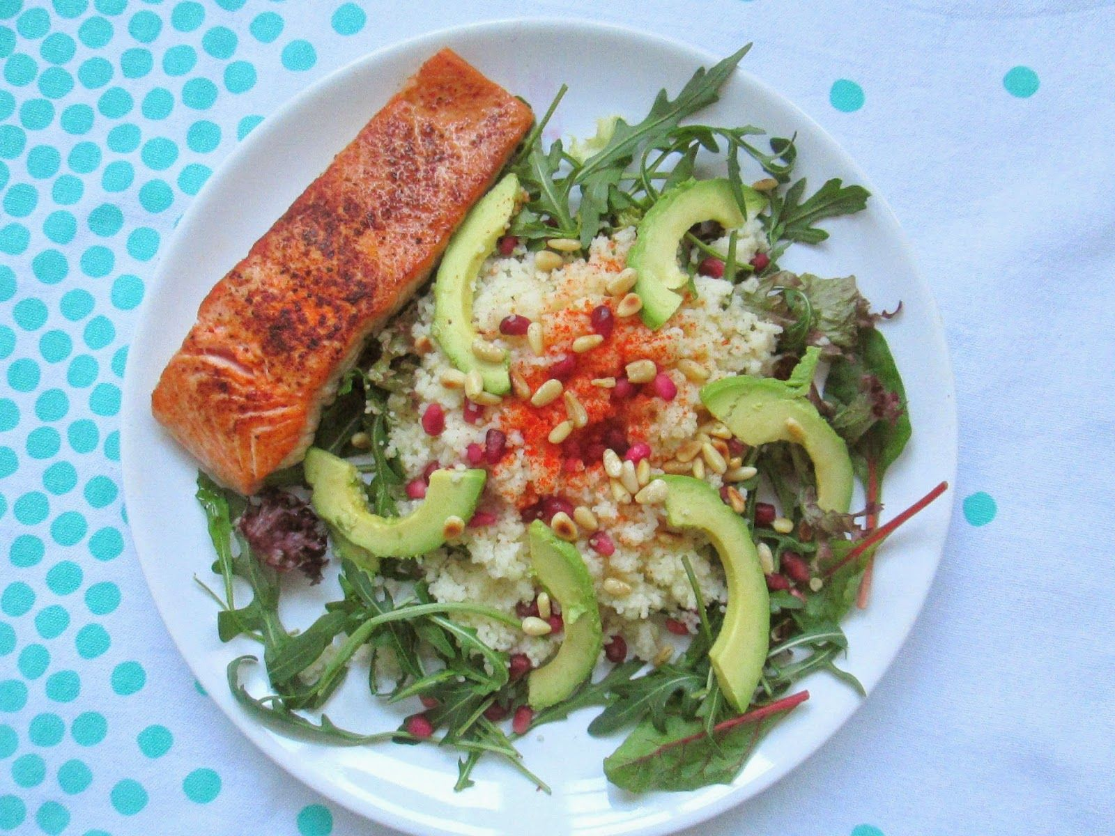 Couscous salade met zalm - 10 minuten klaar