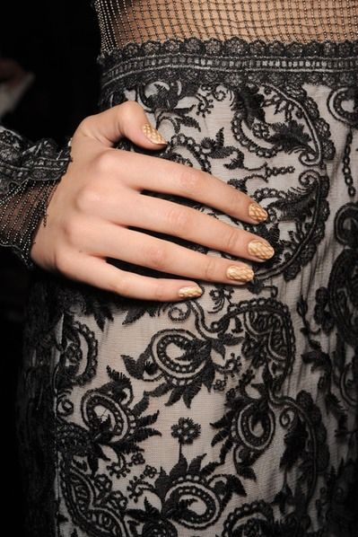 Tadashi Shoji | The Best NYFW Nail Art From Spring/Summer 2015: It's Completely Pretty, And Surprisingly Simple To Copy This Season | Bustle