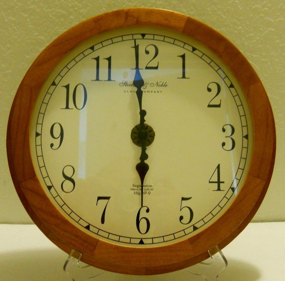 Sterling Amp Noble Clock Company Mfg No 9 Oak Quartz Wall