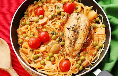 طبق اليوم بالصور Italian Chicken Pasta Italian Recipes Chicken Pasta