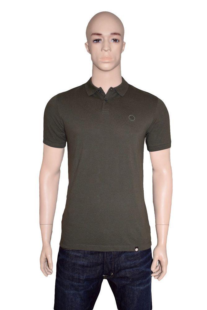 Pretty Green Signature Cotton Pinnington Polo Shirt Khaki Medium BNWT #PrettyGreen #PoloShirts