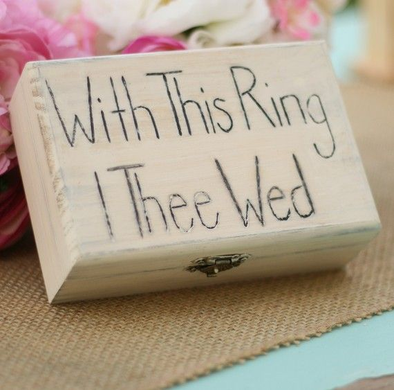 with this ring i thee wed rustic ring bearer pillow item e10479 3899 - With This Ring I Thee Wed
