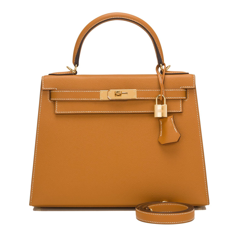 Hermes Sellier Kelly Bag 28cm Toffee Epsom Gold Hardware