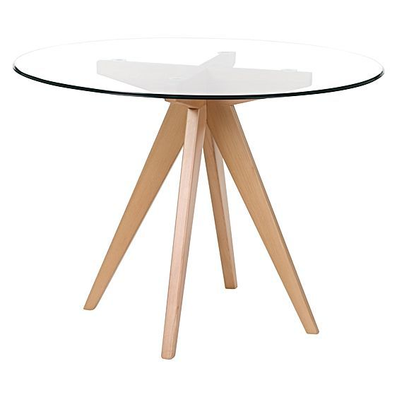 Enjoy the natural look and feel of durable glass and wood with the Bleeker  Dining Table