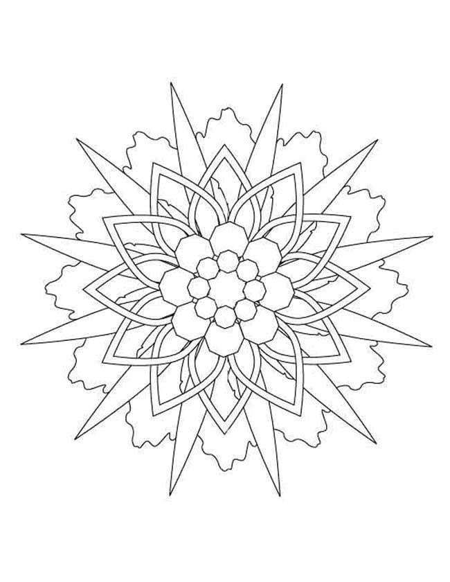 kleurplaten ster mandala