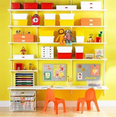 escritorios para nios con estanteras
